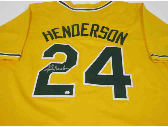 Rickey Henderson Oakland A's Autographed Jersey