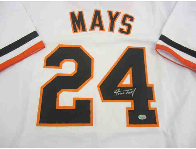 Willie Mays San Francisco Giants Autographed Baseball Jersey