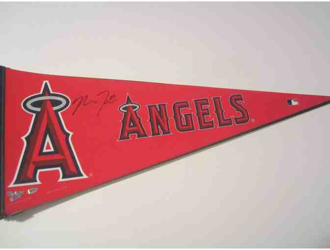 Mike Trout Autographed Baseball Pennant