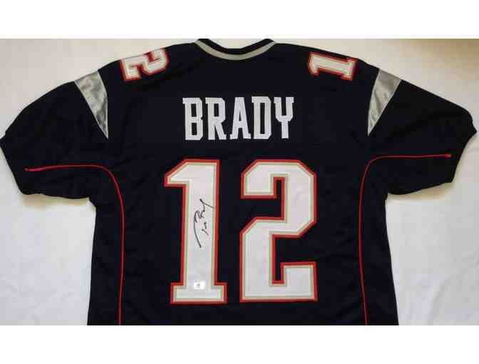 Tom Brady New England Patriots Football Autographed Jersey