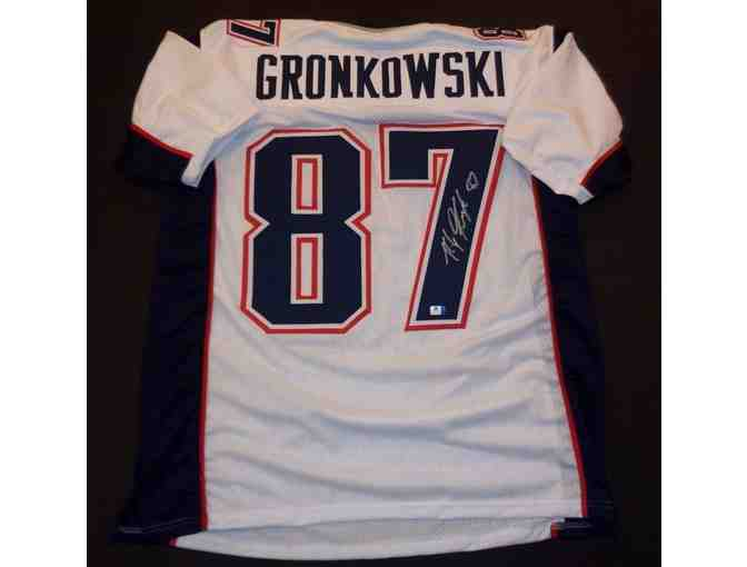 Rob Gronkowski New England Patriots Autographed Football Jersey