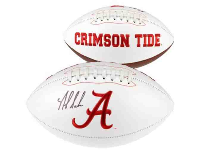 Nick Saban University of Alabama Autographed Football