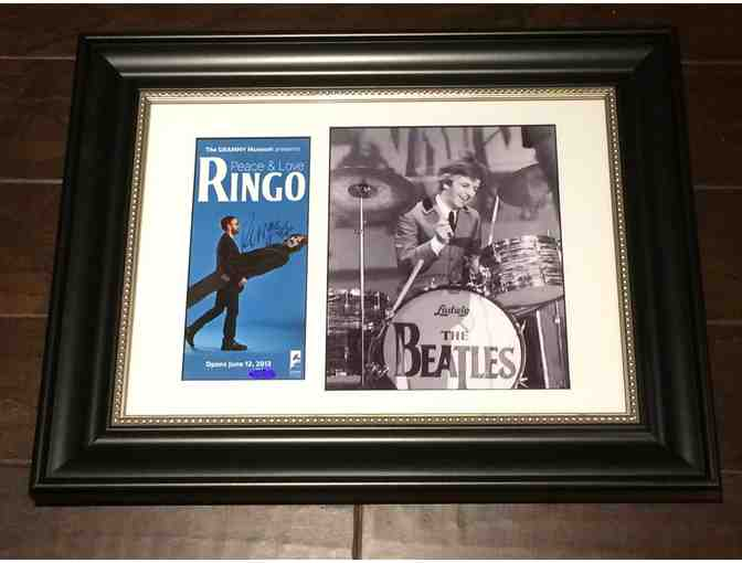 Ringo Starr Beatles Autographed Display