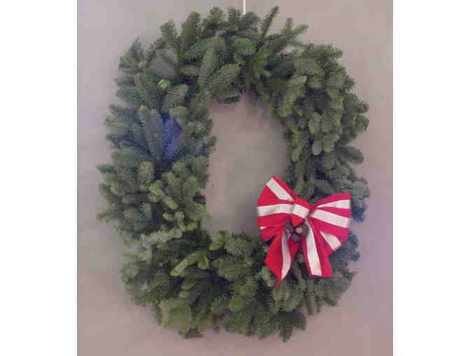 Block 'O' Christmas Wreath -  1