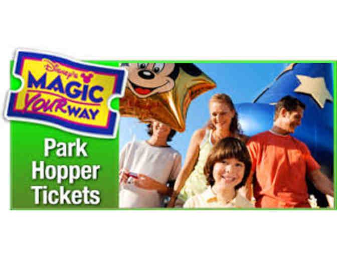 4 Walt Disney World Park Hopper Tickets
