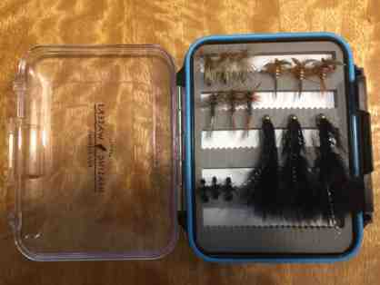 42 Fly Fishing Flies in PHWFF Large Fly Box - tied by Martinez Program Vet
