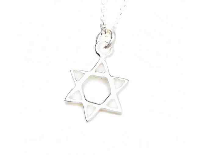 Small Sterling Silver Star of David Necklace