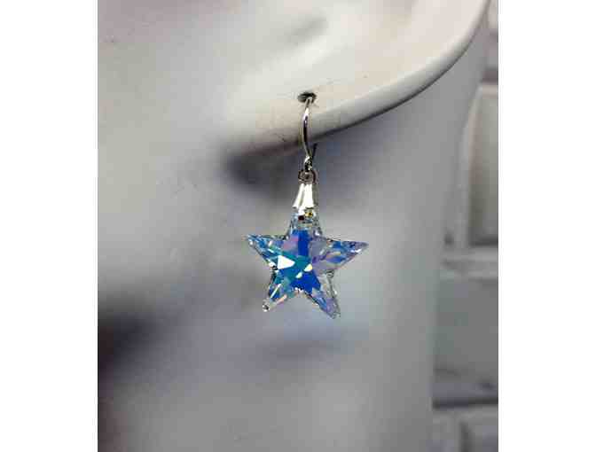 Swarovski crystal star necklace and earring set