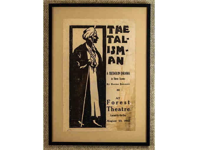 101. The Talisman- A Bedouin Drama, Vintage 1913 Poster, framed. - Photo 1
