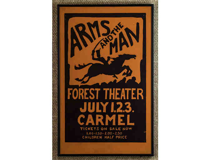 109. Arms at the Man Forest Theater July 1, 2, 3 Vintage 1926 Poster, framed. - Photo 1