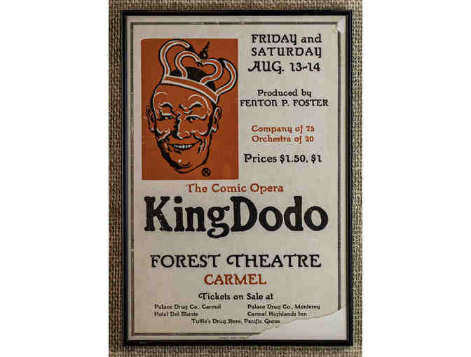 110. The Comic Opera King Dodo, vintage 1926 Poster, framed. - Photo 1