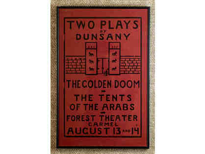 106. The Golden Doom - The Tents of the Arabs, Forest Theatre Vintage 1920 Poster, framed.