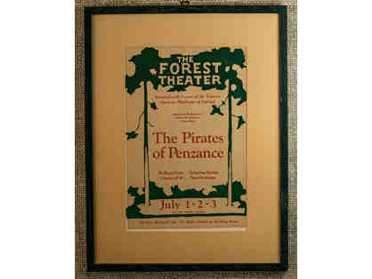 116. The Pirates of Penzanc.e Forest Theatre. Vintage 1933 Theatre Poster, framed.