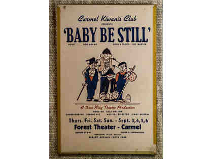 141. Baby Be Still by Don Adams and Ric Masten. Vintage Poster, circa 1960s