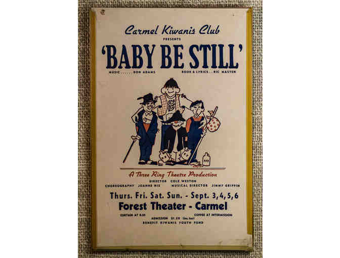 141. Baby Be Still by Don Adams and Ric Masten. Vintage Poster, circa 1960s - Photo 1
