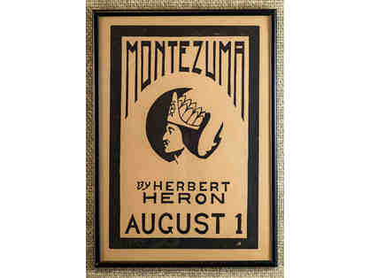 103. Montezuma by Herbert Heron, 1915 Play Poster, framed.