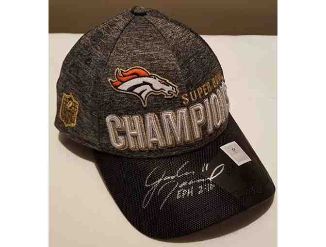 Super Bowl 50 Champion Denver Broncos cap autographed by Jordan Norwood!