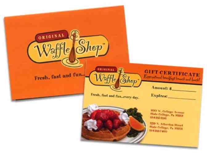 Two $25 Gift Cards from The Original Waffle Shop - Photo 1