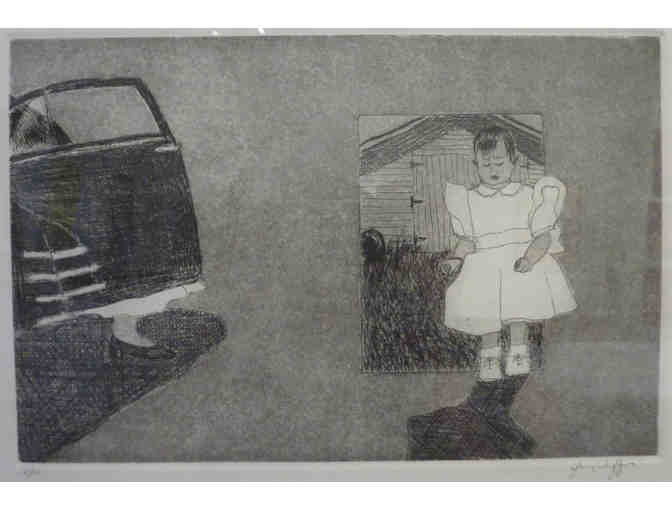 Yvonne Puffer - Untitled Etching from the Family Mini-Series body of work