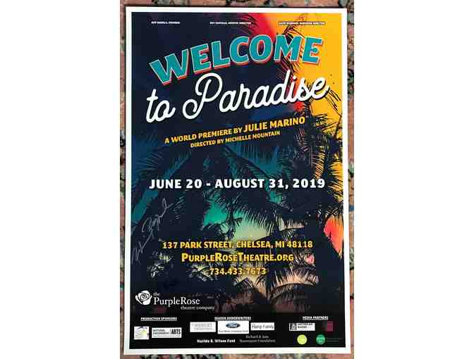Signed Purple Rose Theatre Poster - 'Welcome to Paradise'