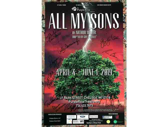 Signed Purple Rose Theatre Poster - 'All My Sons'