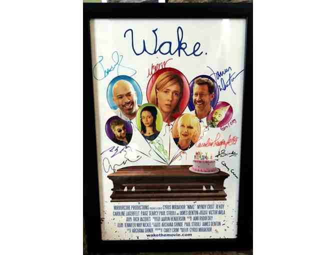'Wake.'  Signed and framed movie poster featuring PRTC Resident Artist Paul Stroili