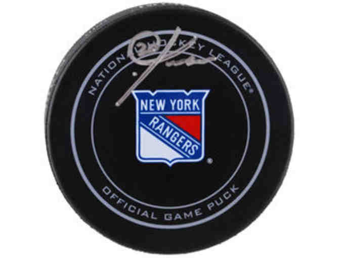 Autographed Hockey Puck from NY Rangers #20, Chris Kreider