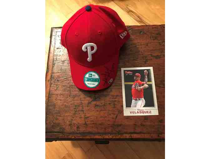 Signed Baseball Hat - Vince Velasquez - Philadelphia Phillies