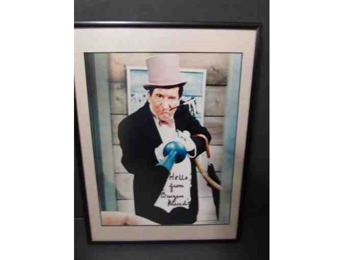 Burgess Meridith who played the Penguin Signed Photo