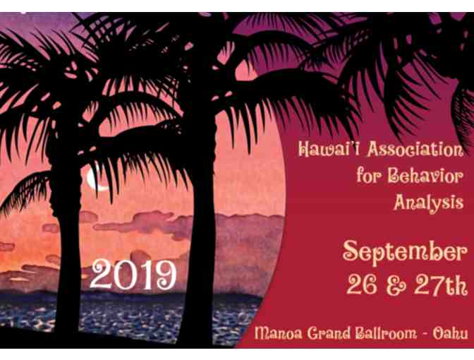 One 'Member' Conference Registration for Hawaii ABA (HABA) Conference