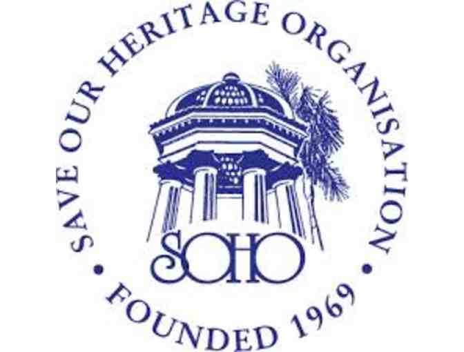 Save Our Heritage Organisation (SOHO) -2 Admission Tickets (see details below) - Photo 1