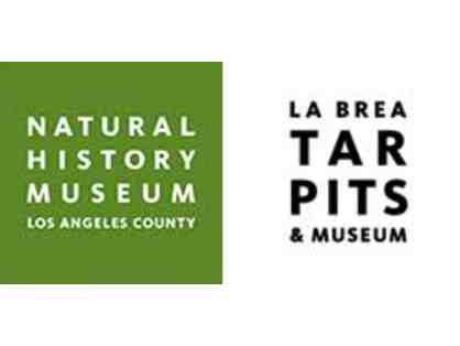 Natural History Museum (LA) or La Brea Tar Pits and Museum - 4 Guest Passes