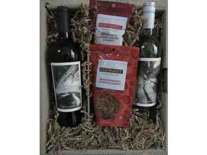 Clif Family Winery - Gift Basket containing Wine and Nuts