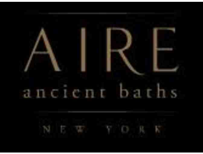 Gift Certificate for Two (2) @ AIRE Ancient Baths in Tribeca, NYC