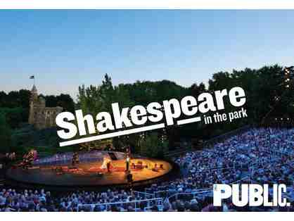 2 Tickets to Shakespeare in the Park: Twelfth Night