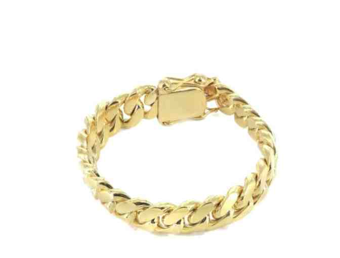 Frost NYC 14K Gold Bracelet Solid Miami Cuban Link