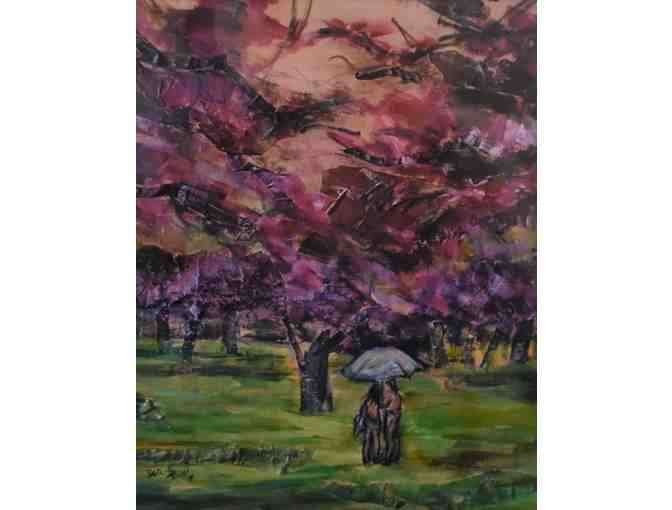 "Acrylic Painting of ""Central Park Spring"" by Diane Bassin - Photo 1"