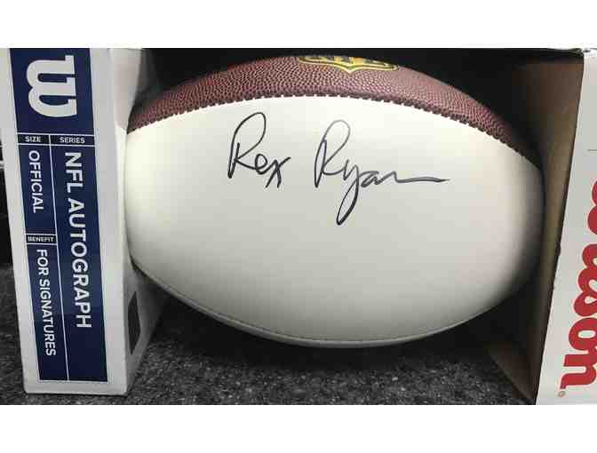 Rex Ryan Autographed NFL Football