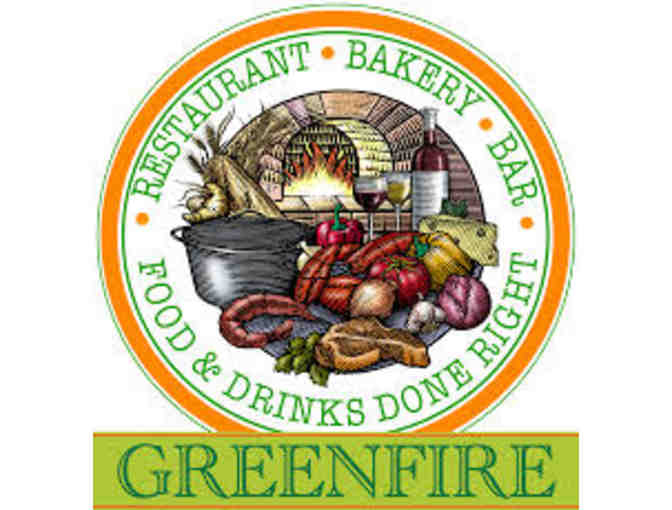 Incredible Gift basket from Green Fire Restaurant with a $50 gift card