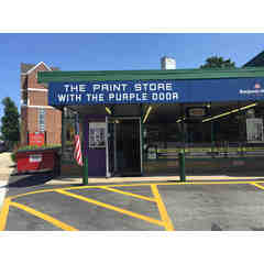 Paint Store with Purple Door