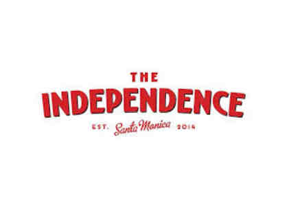 $100 Gift Certificate for The Independence Restaurant