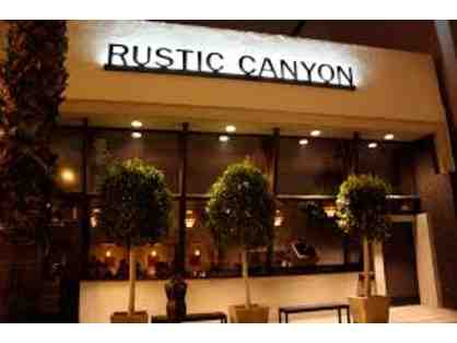 $100 Gift Card for Rustic Canyon Restaurant