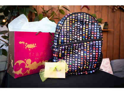 Emoji backpack & $50 giftcard to Frankies on the Park