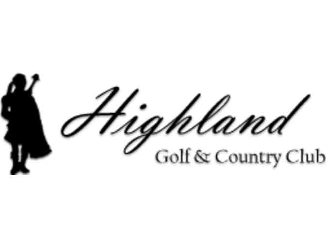Highland Golf and Country Club - A Foursome with Carts