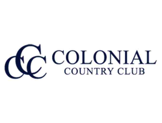 Colonial Country Club - One foursome with carts