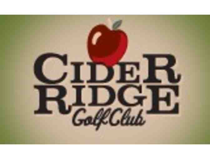 Cider Ridge Golf Club - One twosome with cart