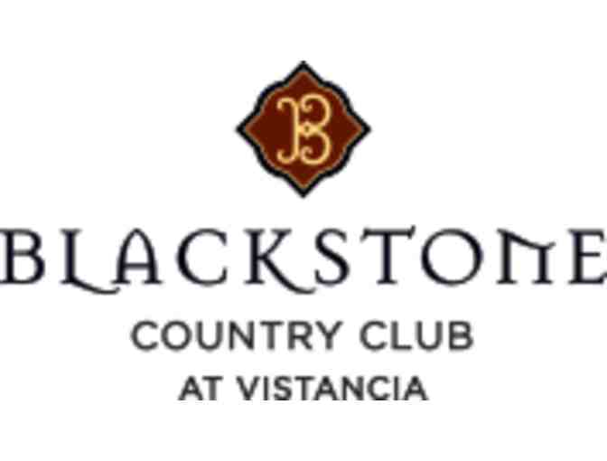 Blackstone Country Club - One foursome with carts and practice balls