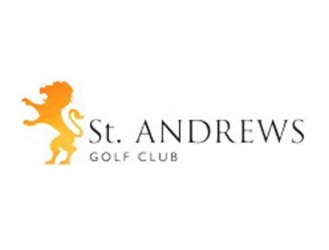 St. Andrews Golf Course - One foursome with carts