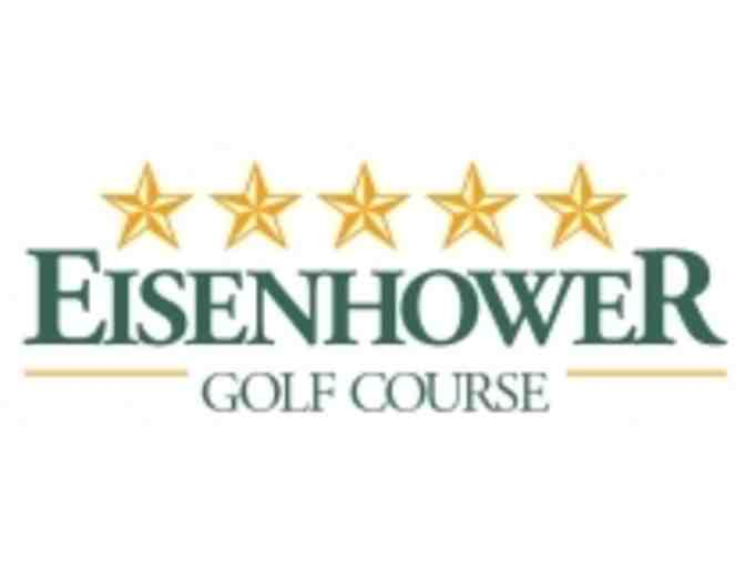Eisenhower Golf Course - A foursome with carts