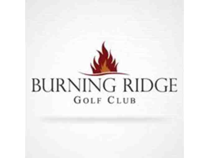 Burning Ridge Golf Club -- A foursome with carts